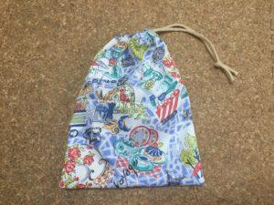 巾着の作り方 裏地なし片側ひも!手縫いでも簡単に出来る縫い方!